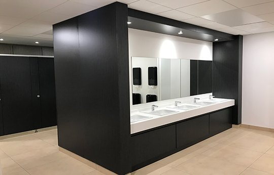 Washroom Manufacturer Solid Surface in Washrooms