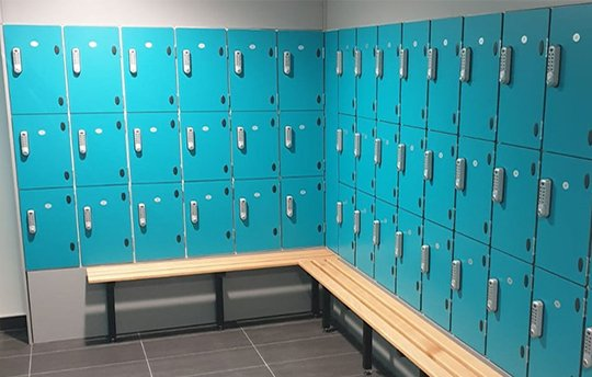 Lockers and Bench Seating