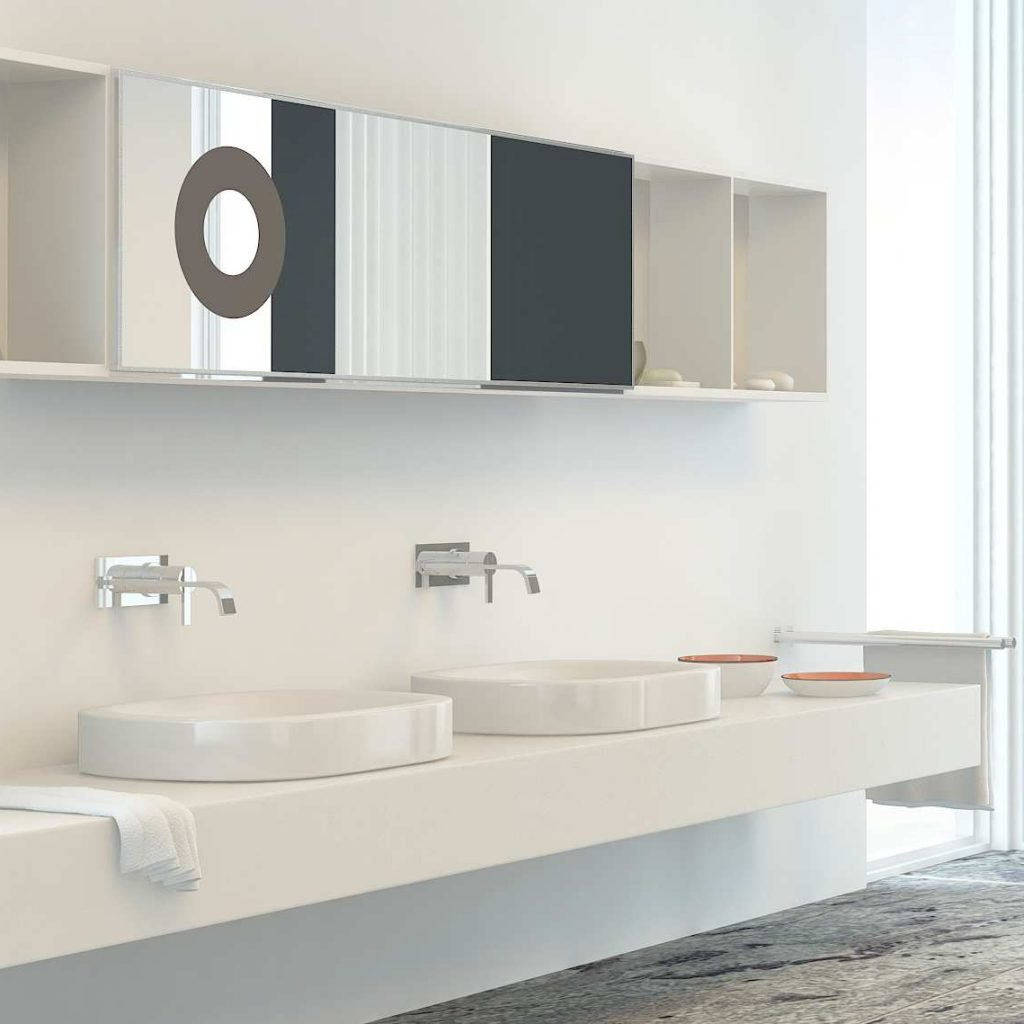 Commercial washroom vanity units