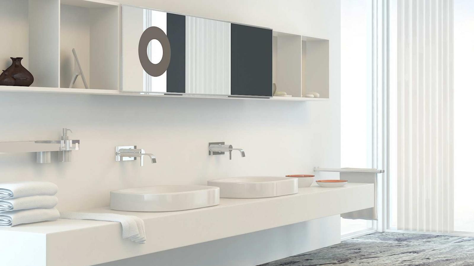 Commercial washroom vanity units